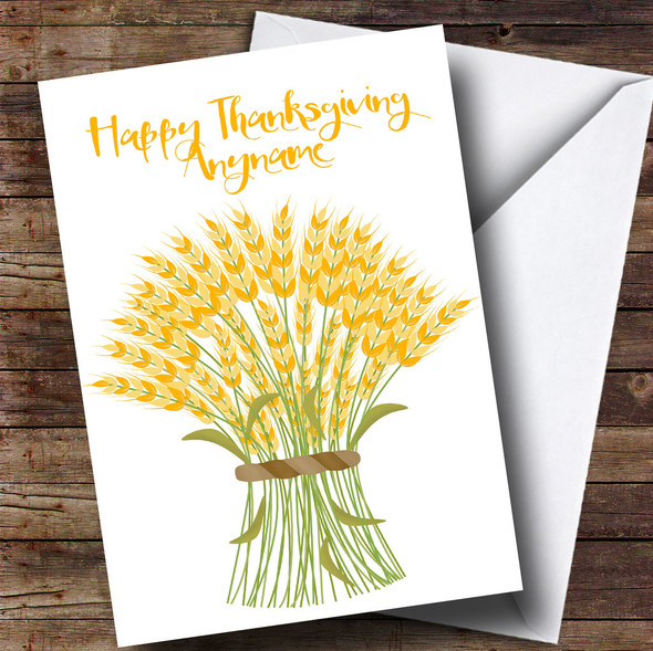 Harvest Bouquet Personalised Thanksgiving Card