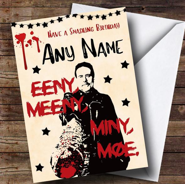 Smashing Negan The Walking Dead Personalised Birthday Card