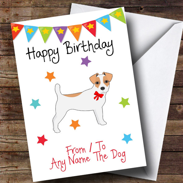 To From Pet Dog Jack Russel Terrier Personalised Birthday Card