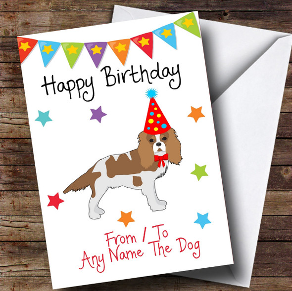 To From Dog King Charles Spaniel Personalised Birthday Card
