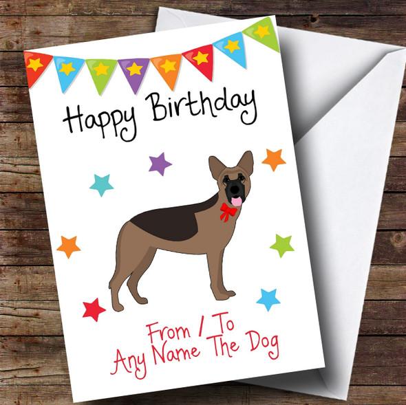 To From Pet Dog German Shepherd Personalised Birthday Card