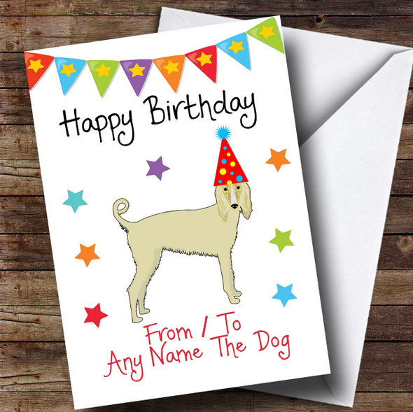 To From Pet Dog Afghan Hound Personalised Birthday Card