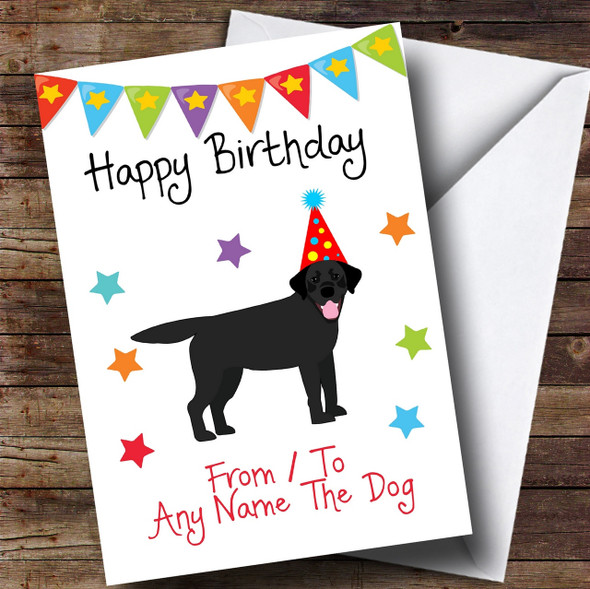 To From Dog Black Labrador Personalised Birthday Card