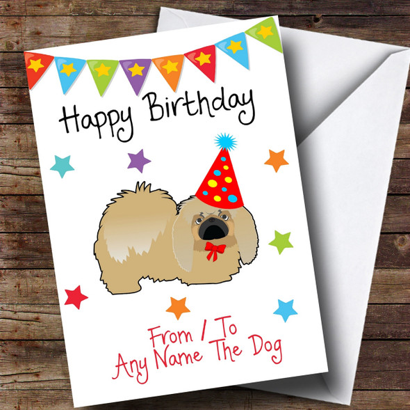 To From Pet Dog Pekingese Personalised Birthday Card
