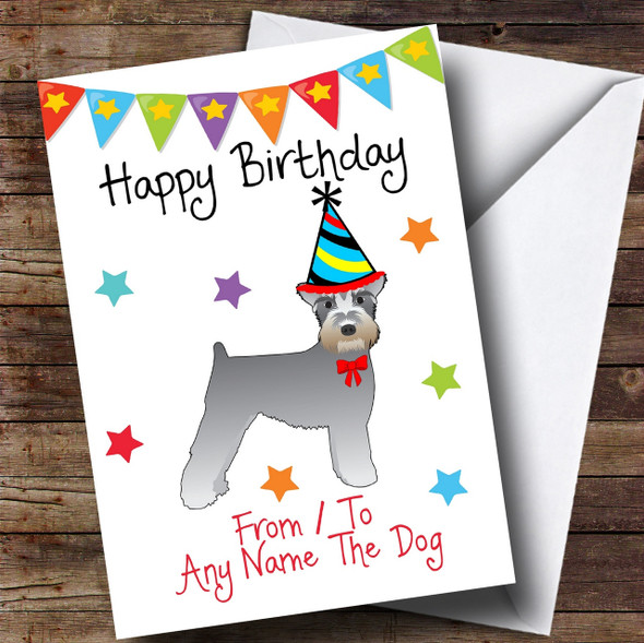 To From Pet Dog Schnauzer Personalised Birthday Card