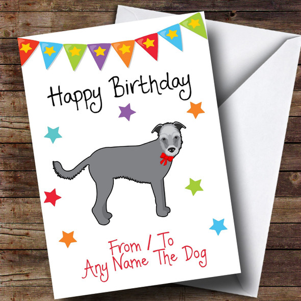 To From Pet Dog Wolfhound Personalised Birthday Card