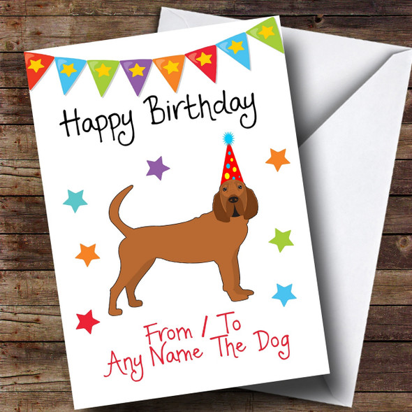 To From Dog Bloodhound Personalised Birthday Card