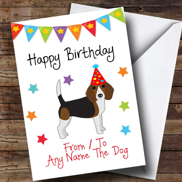 To From Pet Dog Beagle Personalised Birthday Card