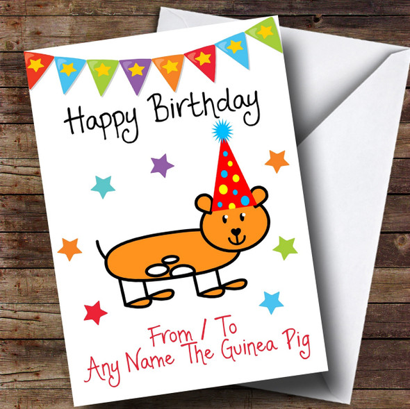 To From Pet Guinea Pig Personalised Birthday Card