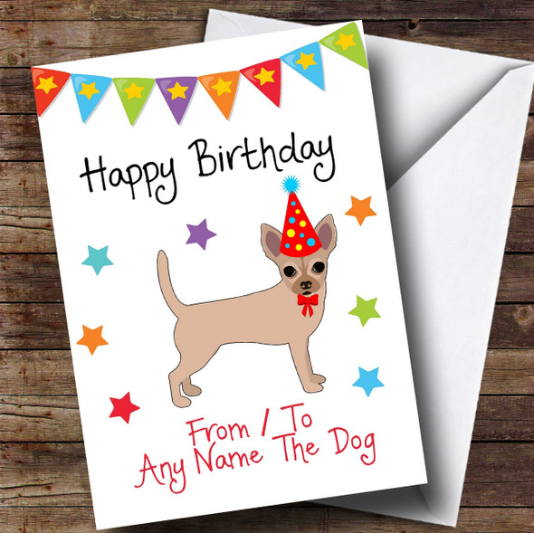 To From Dog Chihuahua Personalised Birthday Card