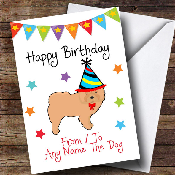 To From Dog Chow Chow Personalised Birthday Card