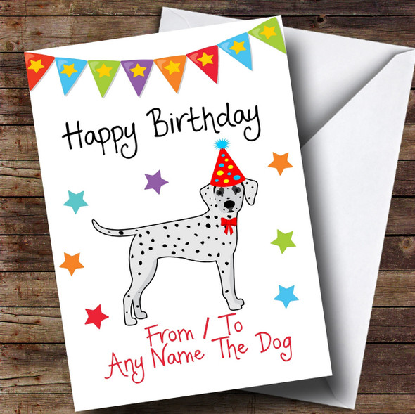 To From Dog Dalmatian Personalised Birthday Card