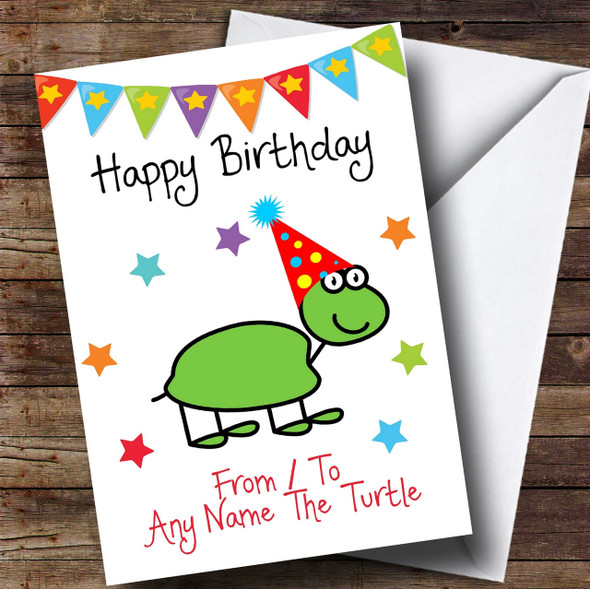 To From Pet Turtle Personalised Birthday Card