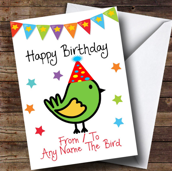 To From Pet Bird Personalised Birthday Card