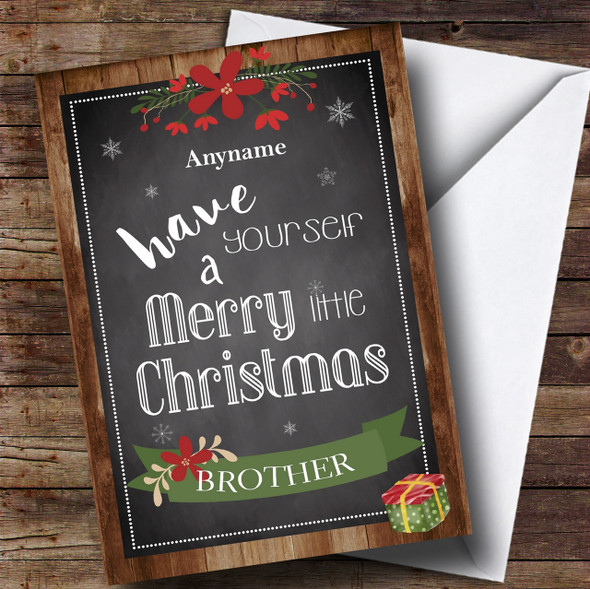 Brother Wood Personalised Christmas Card
