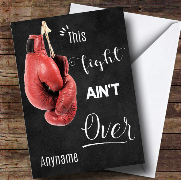 Cancer Boxing Gloves Fighter Personalised Card