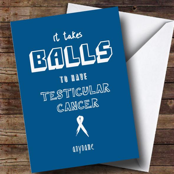 Cancer Balls Man Testicular Personalised Card