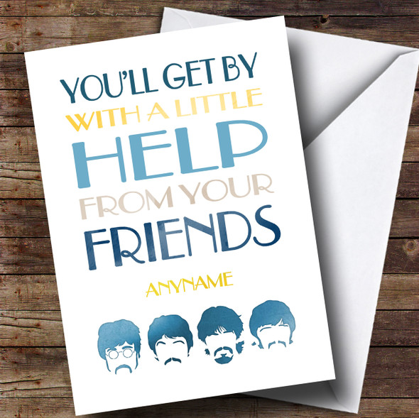 Cancer Beatles Friend Male Personalised Card