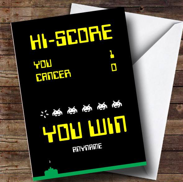 Cancer Gaming Winner Personalised Card