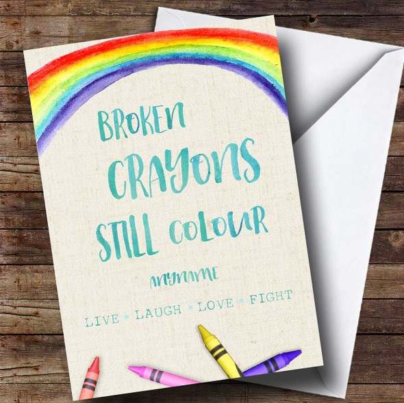 Cancer Crayons Personalised Card