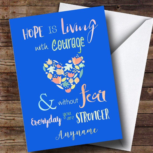 Beat Cancer Personalised Card