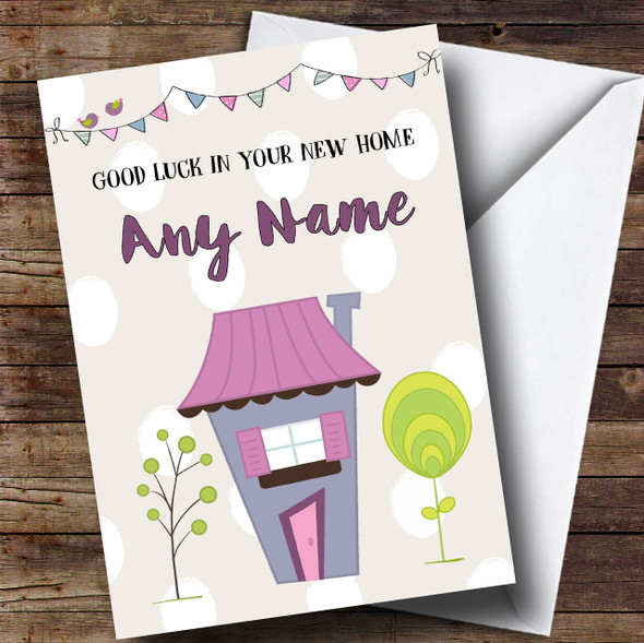 House & Bunting New Home Personalised Card