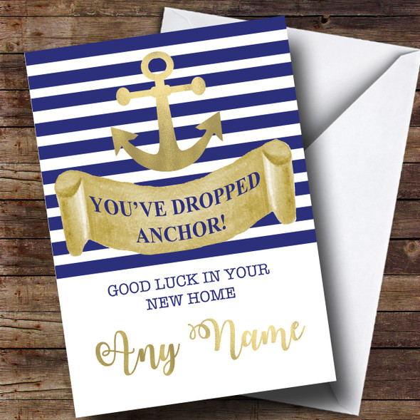 Dropped Anchor New Home Personalised Card