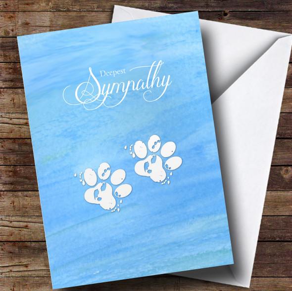 Personalised Pet Paw Sympathy Sympathy Card