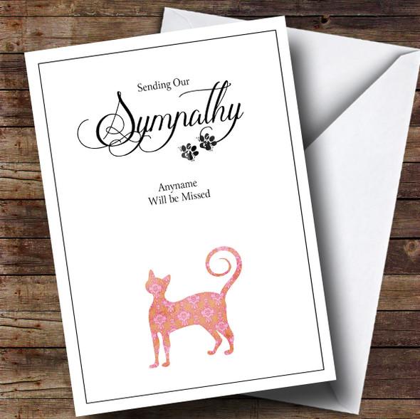 Personalised Pet Sympathy Cat Sympathy Card