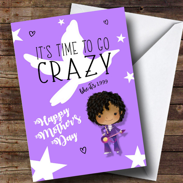 Personalised Prince Cute Cartoon Crazy Mothers Day Card