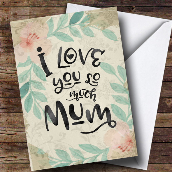 Personalised Vintage Floral Fancy Mothers Day Card