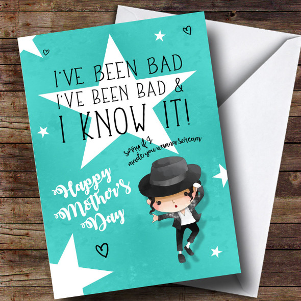 Personalised Michael Jackson Bad Mothers Day Card