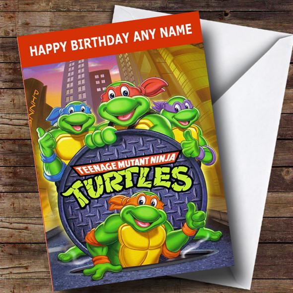 Personalised The Teenage Mutant Ninja Turtles Children's Birthday Card