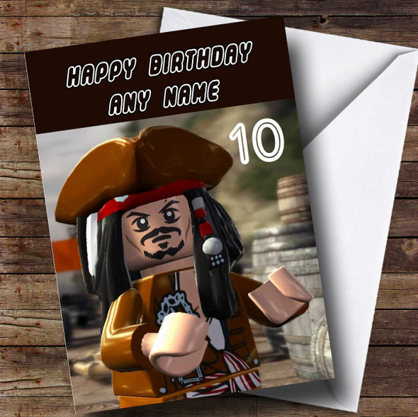 Personalised Lego Pirates Of The Caribbean Children's Birthday Card