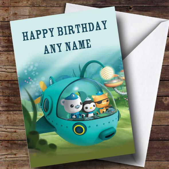 Personalised The Octonauts Sub Children's Birthday Card