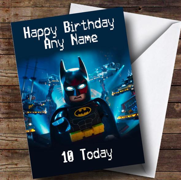 Personalised Blue Lego Batman Children's Birthday Card