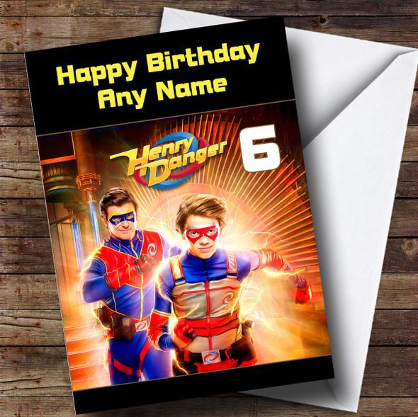 Personalised Henry Danger Children's Birthday Card