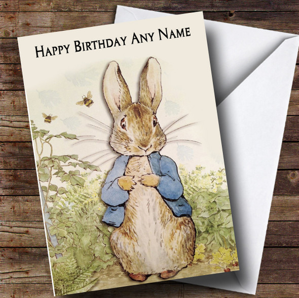 Personalised Peter Rabbit Children's Birthday Card