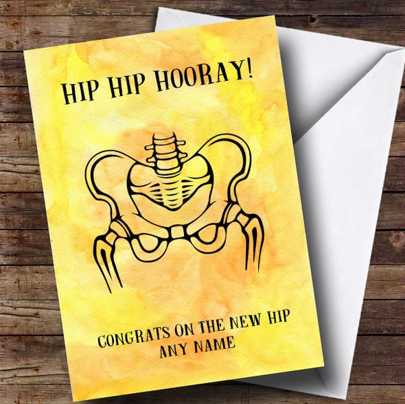 Personalised Funny Hip Hip Hooray Get Well Soon Card