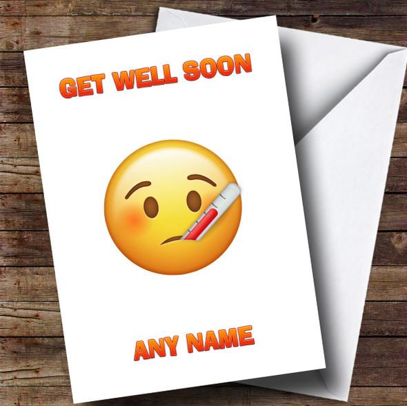 Personalised Poorly Emoji Get Well Soon Card