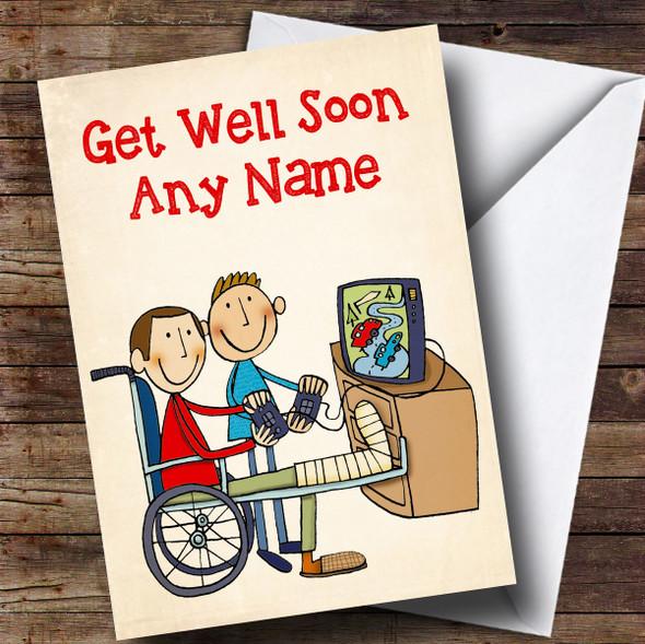 Personalised Broken Leg Get Well Soon Card