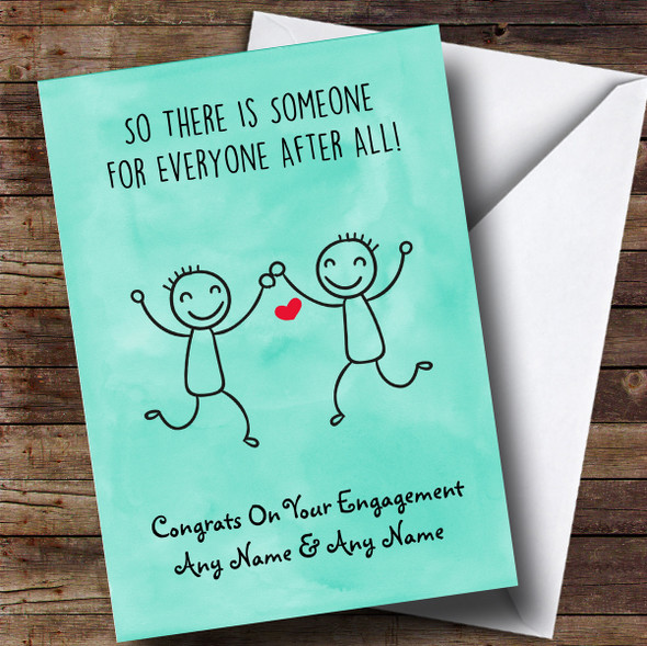 Personalised Funny Someone For Everyone Gay Engagement Card