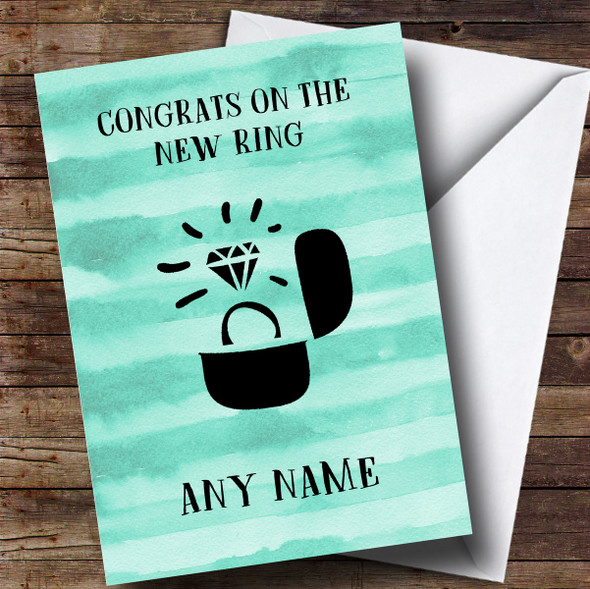 Personalised Funny Congrats On The Ring Engagement Card