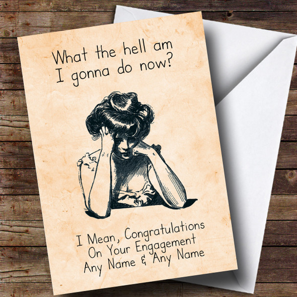 Personalised Funny Lonely Friend Engagement Card