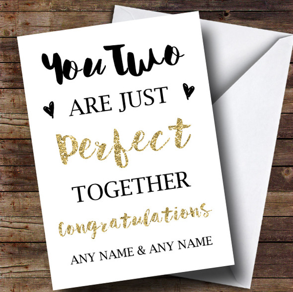 Personalised Perfect Together Engagement Card