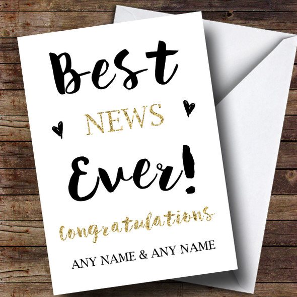 Personalised Best News Ever Engagement Card