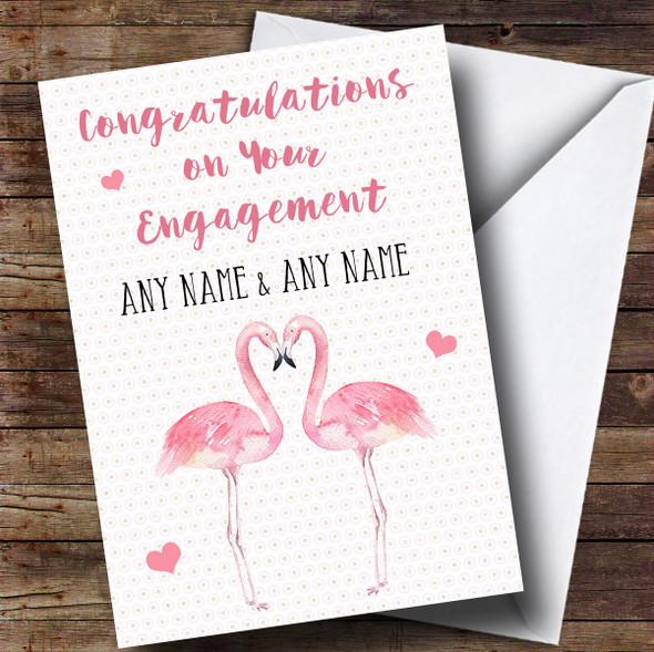 Personalised Flamingo Engagement Card