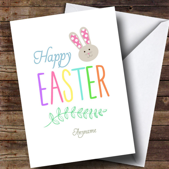 Personalised Colourful Text Easter Card