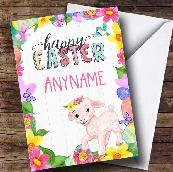 Personalised Spring Lamb Easter Card