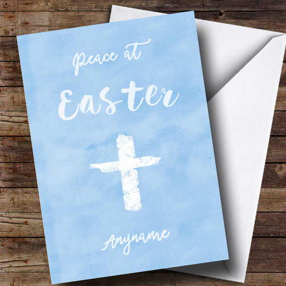 Personalised Blue Peace Easter Card